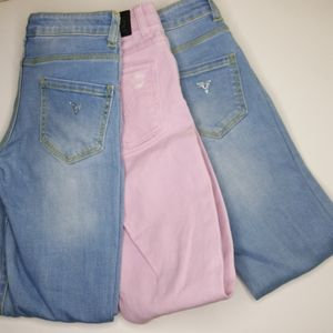 Guess Bundle Of Girls Size 10 Jeans 3 pc GUC